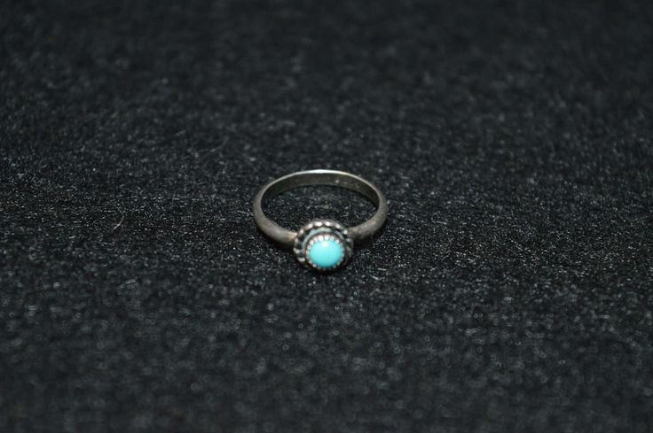 Vintage Native American Tiny Sterling Ring Size 3,  Child Baby Little Girl Ring, Navajo Silver Turquoise Ring Marked Ster, Tiny Navajo Ring by FabulousVintageStore on Etsy
