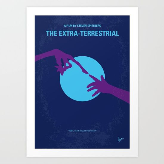 No282 My ET minimal movie poster<br/> <br/> A troubled child summons the courage to help a friendly alien escape Earth and return to his home-world.<br/> <br/> Stars: Henry Thomas, Drew Barrymore, Peter Coyote<br/> <br/> Storyline<br/> While visiting the Earth at Night, a group of alien botanists is discovered and disturbed by an approaching human task force. Because of the more than hasty take-off, one of the visito...