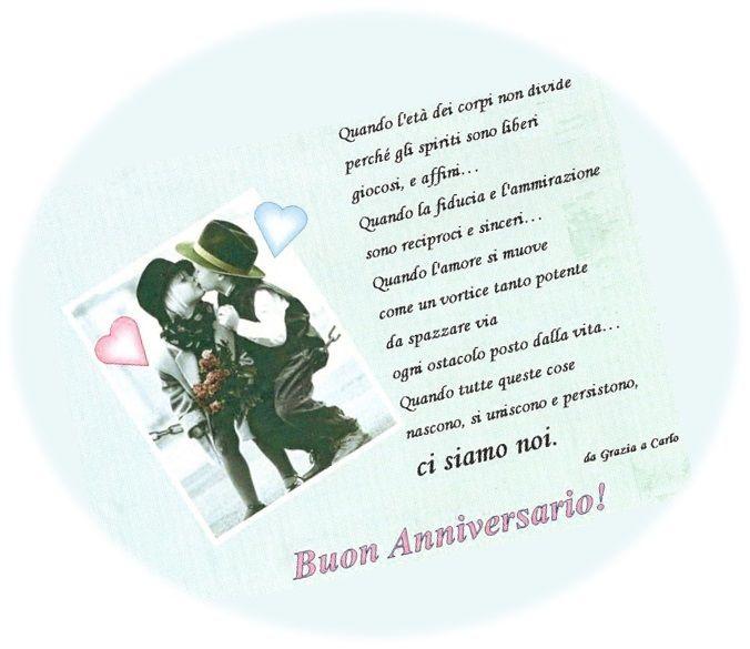 Buon Anniversario amore mio!