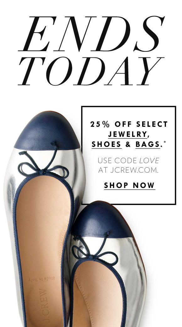 JCrew.com email promotion