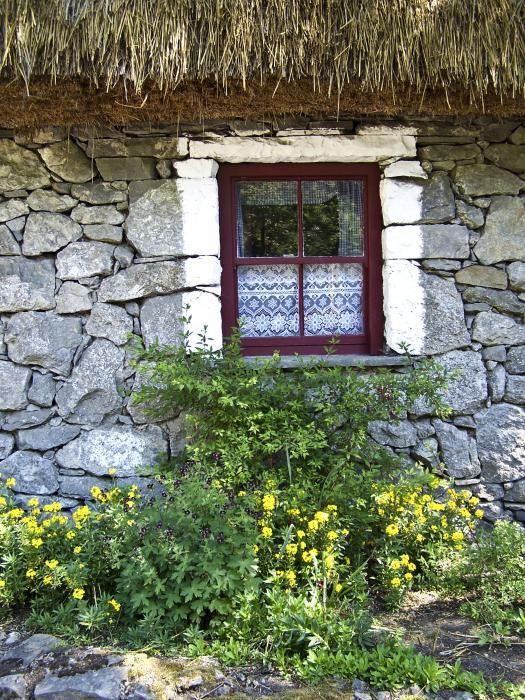 Irish Cottage Window with lace
