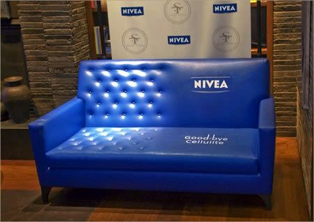 Who would've guessed a couch could be such a great marketing tool!