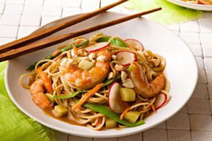 Asian Shrimp & Vegetable Pasta Stir-Fry Recipe - Kraft Recipes