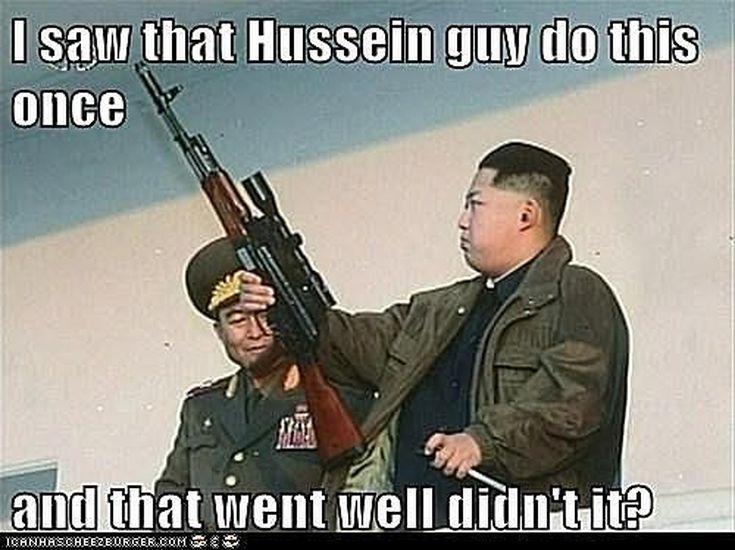 Funniest Kim Jong-un Memes: Kim Jong-Un Channels Saddam Hussein