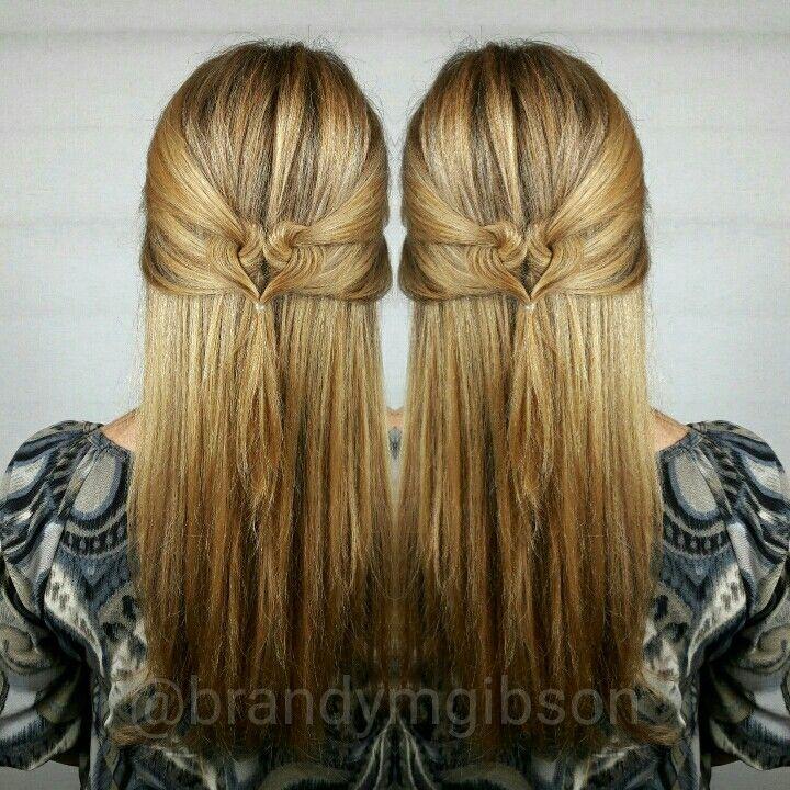 Golden blonde hair Valentine's day hairstyle
