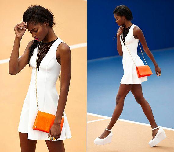 A kilencvenes évekből táplálkozó athletic trend a teniszruhákat is beépíti az utcai divatba.