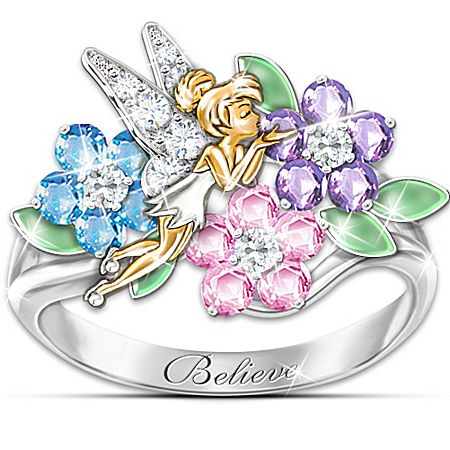 Ring: Tinker Bell's Garden Of Magic Floral Ring