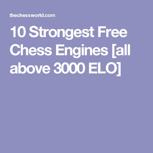 10 Strongest Free Chess Engines [all above 3000 ELO]