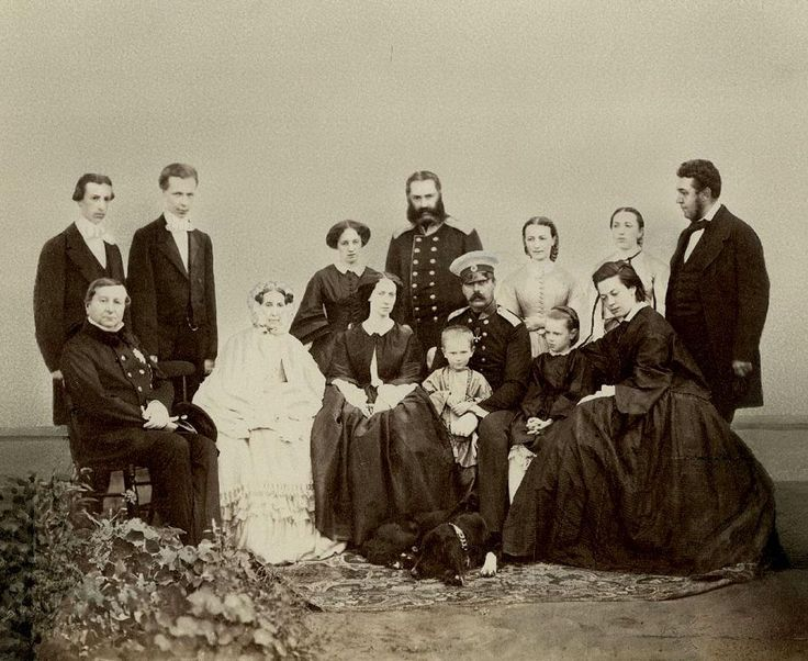 Imperial Russian Family, in the middle Tsar Alexander II and Tsarina Maria Alexandrovna