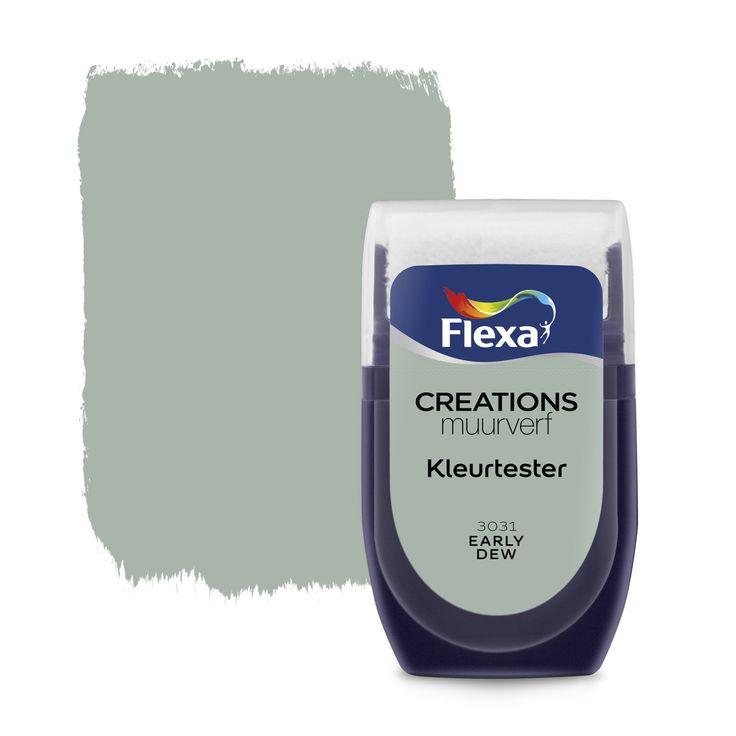 Flexa Creations muurverf kleurtester early dew 30 ml