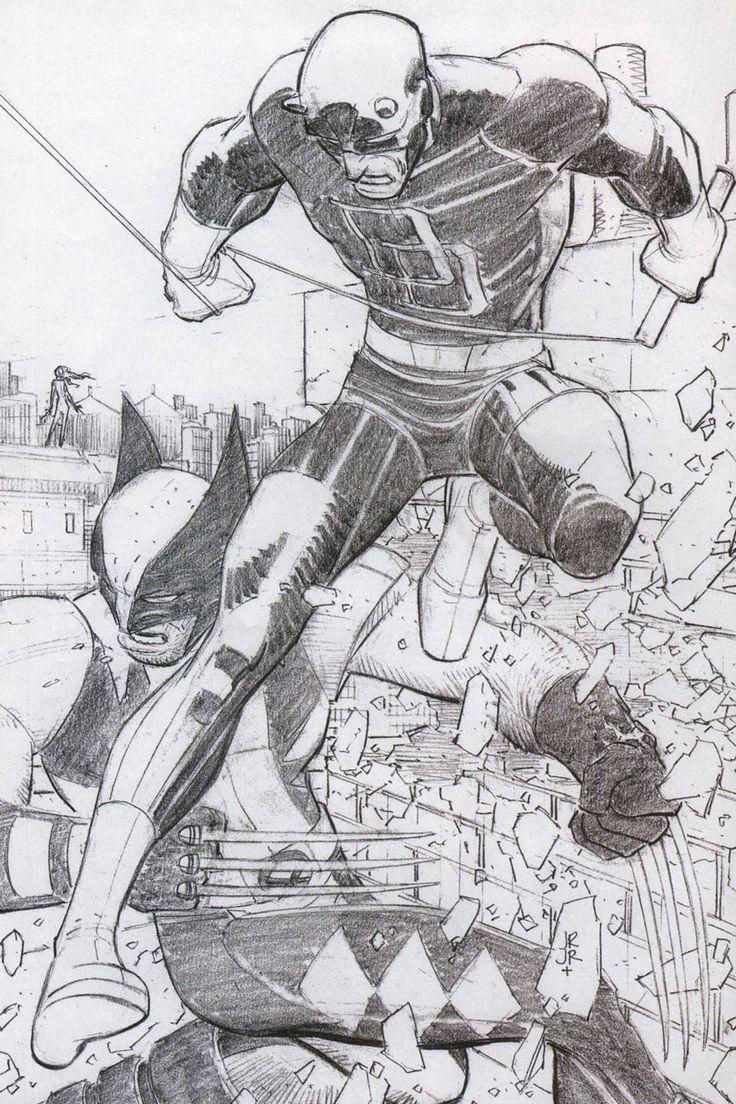 Daredevil and Wolverine - John Romita Jr.