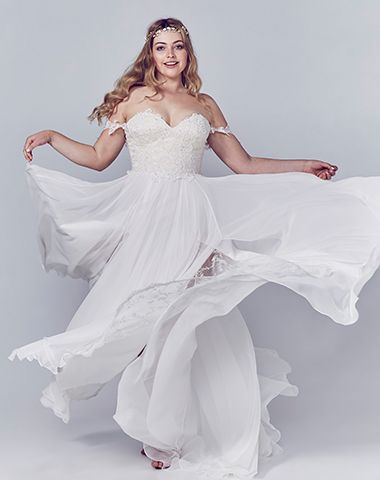 Soft and flowy...Daytona by Peter Trends Bridal