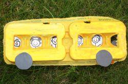 Create an Egg Carton School Bus