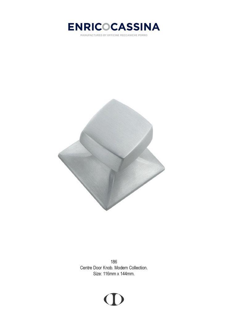 centre door knob, satin chrome, square