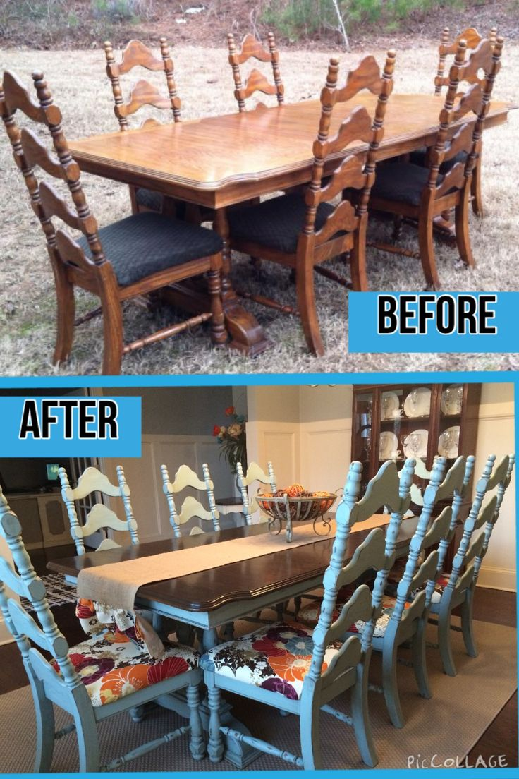 Modern farmhouse dining room makeover beautiful dining room makeover -  Rethunkjunk Breakthechalkhabit More Kitchen Table Makeoverrefurbished