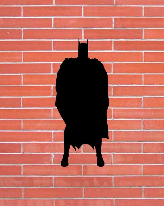 Batman. Superhero. Silhouette Clipart. Set Digital illustration. Scrapbook