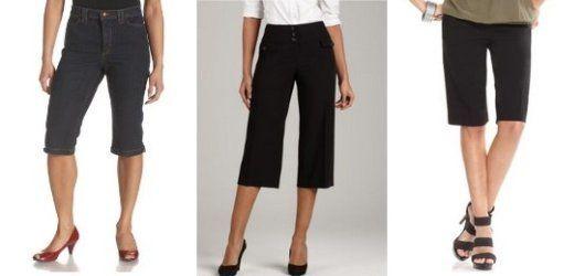 Womens capri walk shorts