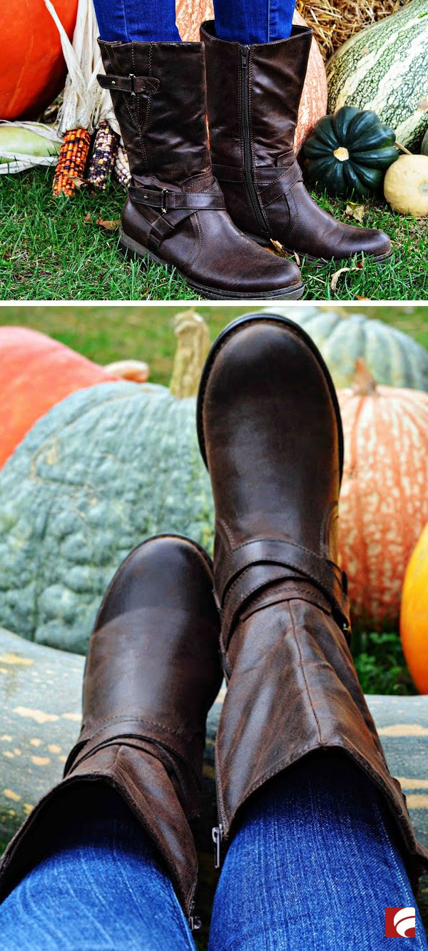 Pumpkin, spice and everything nice! The Bare Trap Harley boot has inside zip entry, smooth lining with a cushioning insole and has a stylish strap/buckle detail. Let these cute boots be your new go-to boot for all your seasonal events! Photo c/o: @marison459