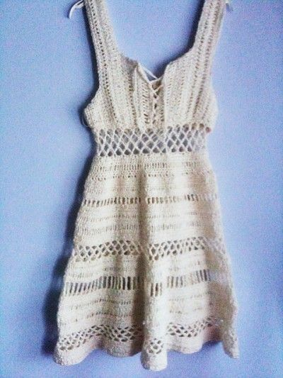 8 Beautiful Free White Crochet Dress Patterns. I would pin them one by one, but I am lazy
