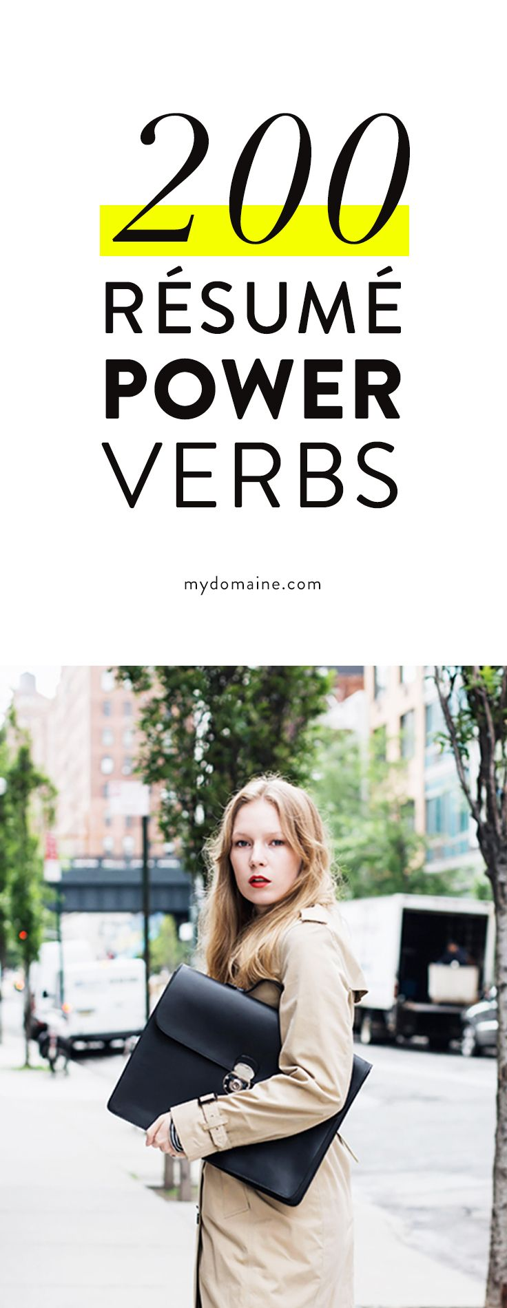 200 power verbs to use on your rsum