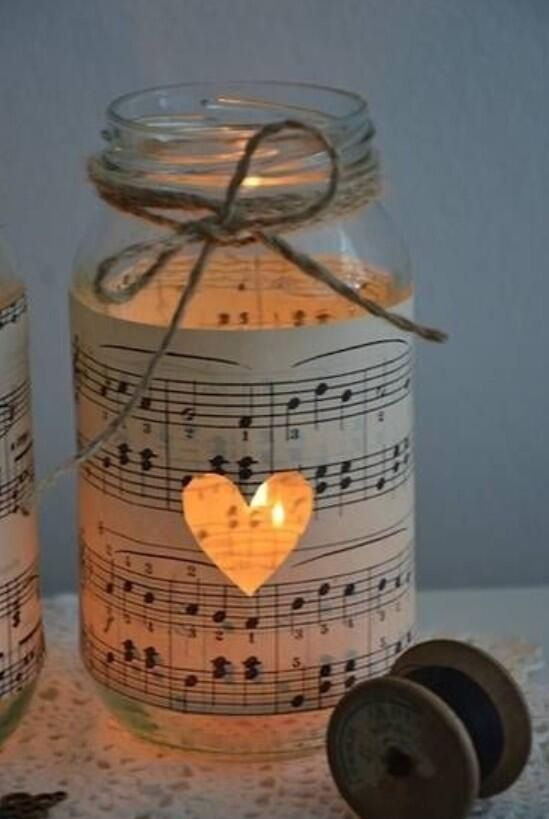 Music center pieces :) could use the notes of the first dance