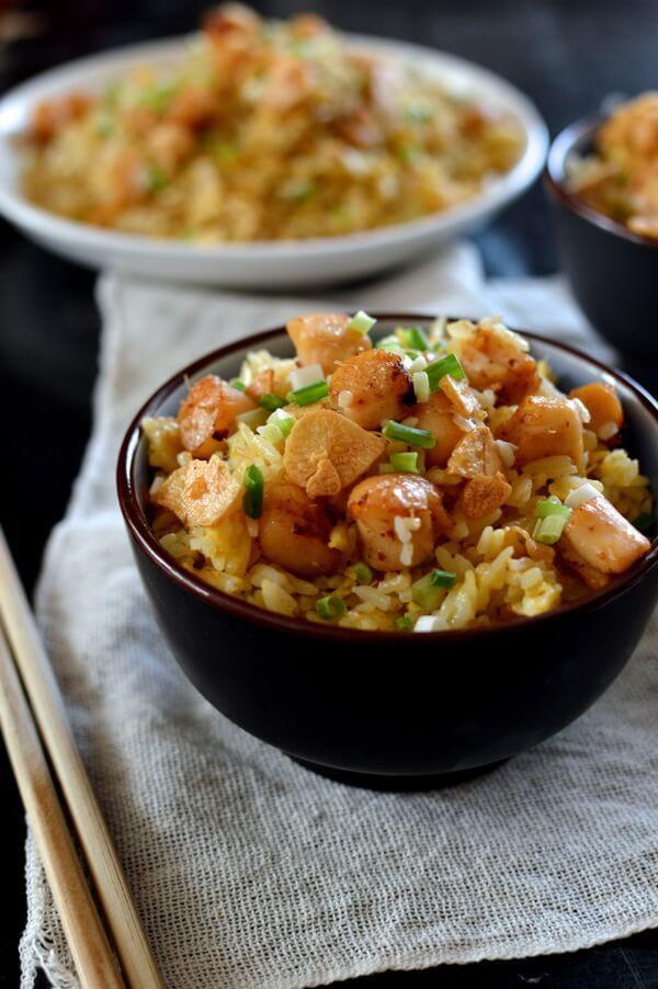 asian restaurant fried scallops that