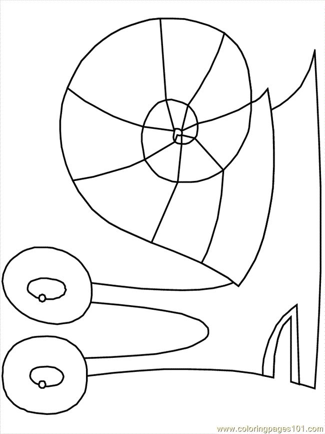 Coloring Pages Snails (Animals Snail) - free printable coloring page online
