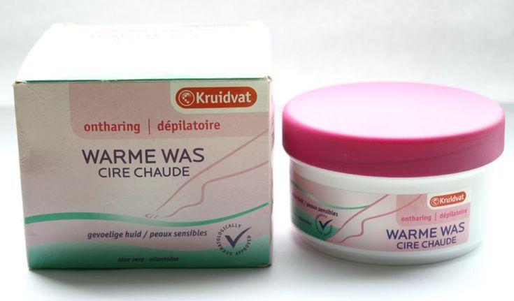 €4,29 gladde benen met praktische (afwasbare! Voor zij die terugkrabbelen) warme suikerwas van Kruidvat