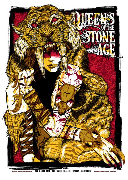 I just LOVE old movie and awesome band posters!  --- Queens of the Stone Age poster by Rhys Cooper