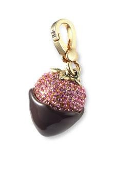 juicy couture dipped strawberry charm/keychain
