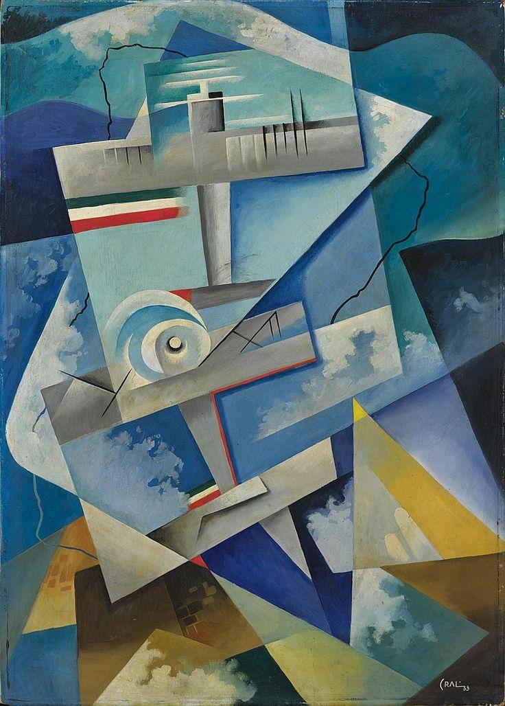 Tullio Crali: Passione Aerea, 1933 - cubist view