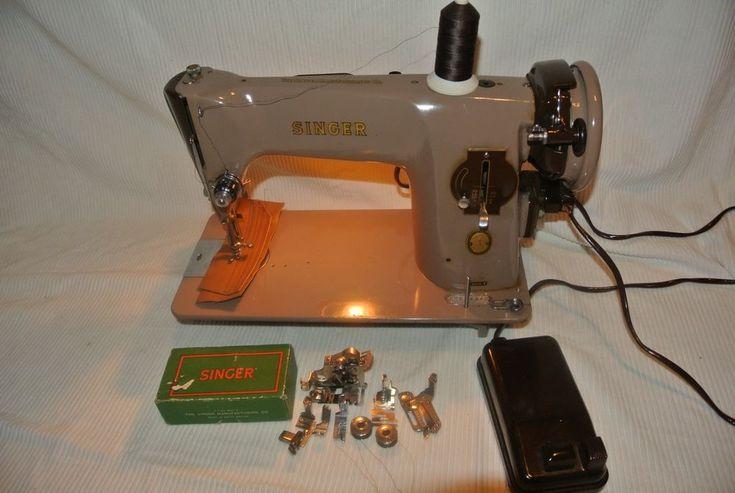 Singer 201K SEMI-INDUSTRIAL sewing machine  EK688840(see leather sewn Sample