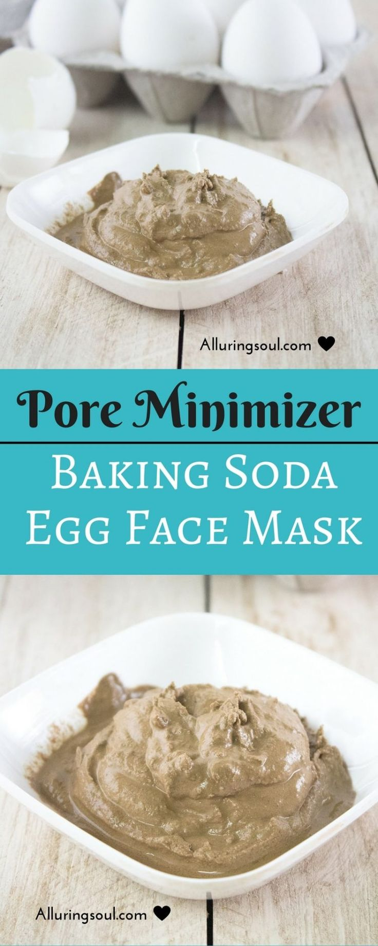Pore Minimizer Baking Soda And Egg Face Mask