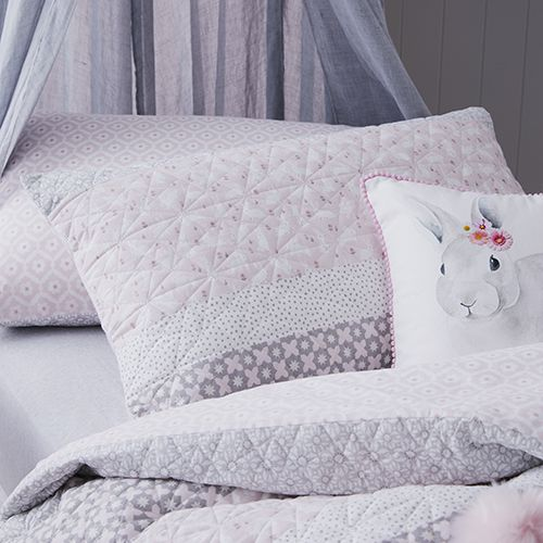 Eloise Quilted Quilt Cover Set Pink