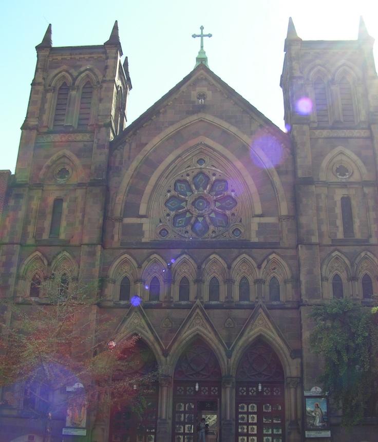 "St Bernard Catholic Church...Catholic School had to pass this school going toward the ""Village""."