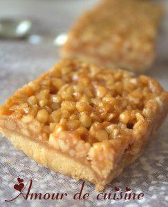 carrees aux amandes et miel