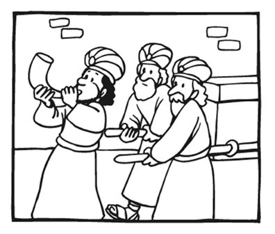 49 best images about joshua and the battle of jericho on for Jericho coloring page