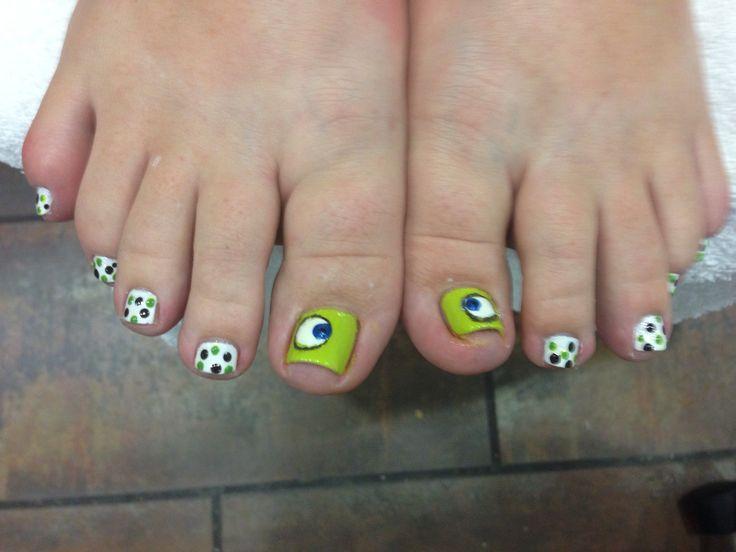 Monsters Inc Disney Toe Nails :-) - 17 Beste Ideer Om Disney Toe Nails På Pinterest