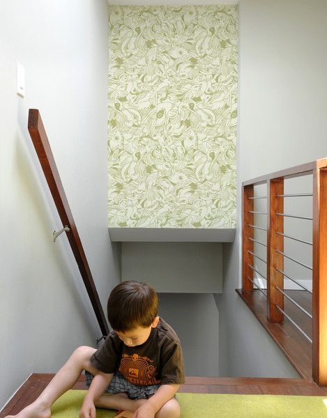 Bird Flurry Pattern Wall Tiles by Blik wall decals let you create an accent over a bed, behind a chair or frame a section of a wall. The sets don't require messy glue and can be repositioned and moved easily. Cut, rotate or arrange in a number of ways.