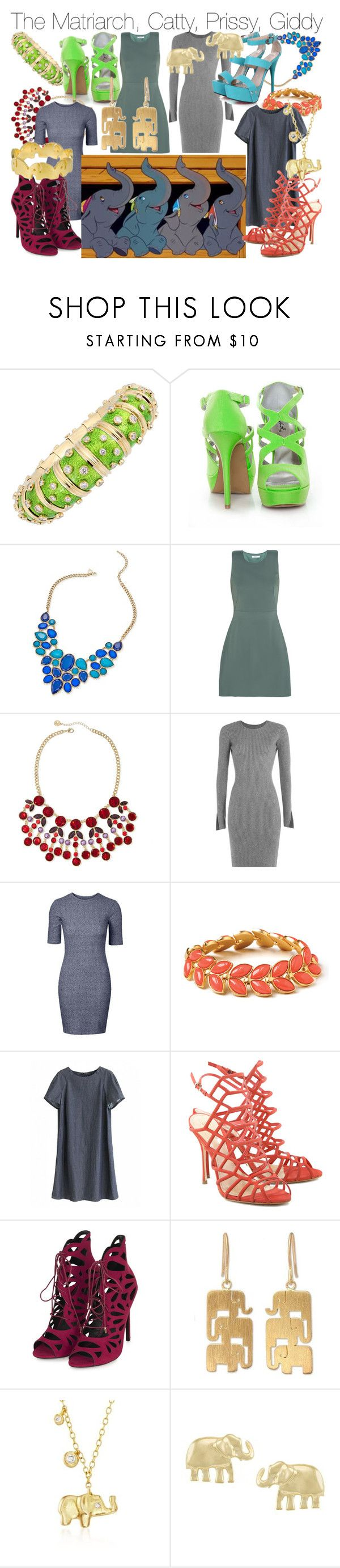 """""""Group Bound - The Elephants"""" by fabulousgurl ❤ liked on Polyvore featuring Tiffany & Co., Qupid, Thalia Sodi, Bailey 44, Liz Claiborne, Alexander Wang, Spartina 449, Schutz, Topshop and NOVICA"""