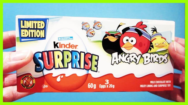 LIMITED EDITION ANGRY BIRDS Kinder Surprise Eggs Kids Toys and Chocolate