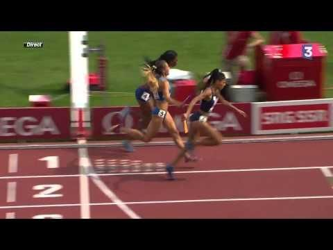 Floria Guei's Incredible Win At The 4x400m Relay - #amazing #running