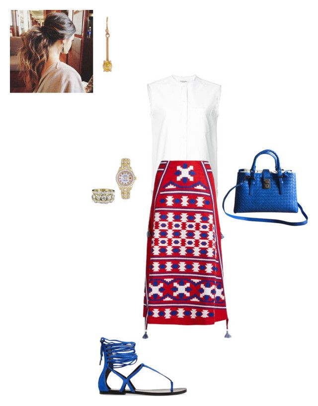"""Summer"" by cgraham1 on Polyvore featuring Thom Browne, Vita Kin, Sigerson Morrison, Bottega Veneta, Irene Neuwirth and Rolex"