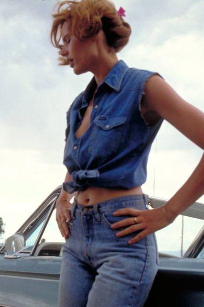 Blue Jeans Geena Davis Blue And Blue Jeans