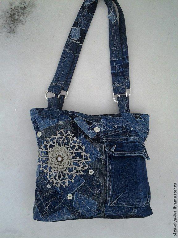 сумка Нить Ариадны. Продана! - синий,абстрактный,джинсовый стиль,джинсовая сумка