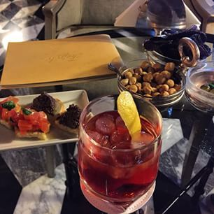 Sbagliato by Martini cocktail at Tiepolo Bar