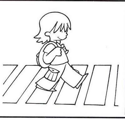 Картинки пешеходного перехода для детей черно белые