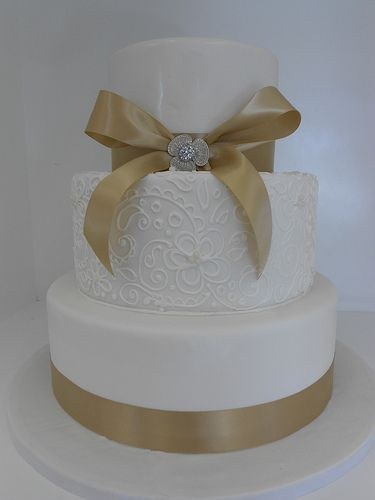 Champagne Wedding Cake (1015)