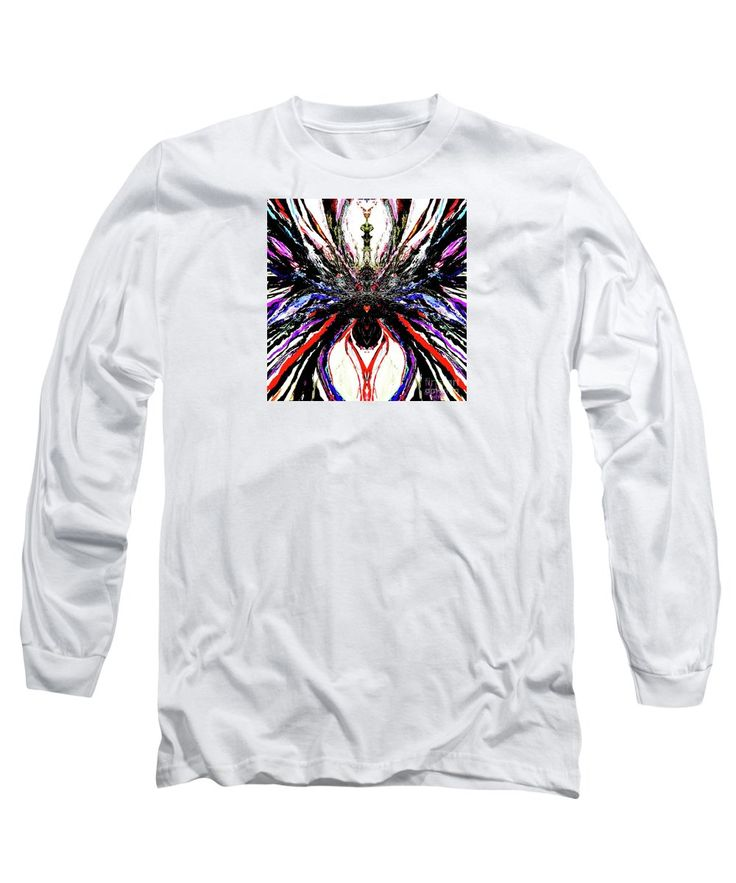Purchase a long-sleeve t-shirt featuring the image of Painted Orchid  by Expressionistartstudio Priscilla-Batzell.  Available in sizes S - XXL.  Each t-shirt is printed on-demand, ships within 1 - 2 business days, and comes with a 30-day money-back guarantee.