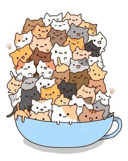 Kitties! omg SOOOO CUTE but yet i feel like a crazy ct lady would love this (-_-)